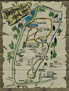 Trail Map of WhistleWood Farm